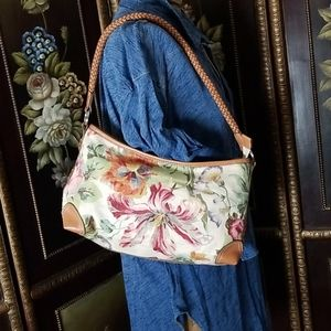 Fossil | Canvas and Leather Bag